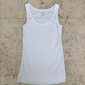 Lilly Pulitzer Pima cotton tank top white size